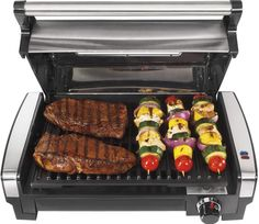 20 BEST INDOOR SMOKELESS GRILLS Best Electric Grill, Indoor Electric Grill, Electric Grills, Grilled Zucchini Recipes, Grilled Meat, Grilled Veggies, George Foreman, Healthy Grilling, Grilling Recipes