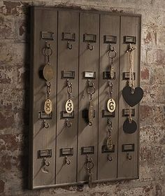 DIY.  Vintage Hotel Inspired Key Rack.