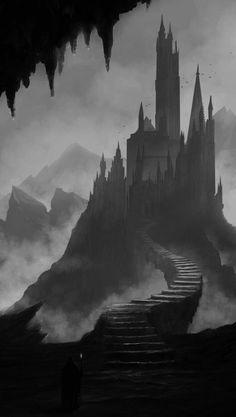 New dark fantasy landscape castles concept art 29 ideas Dark Fantasy Art, Fantasy Artwork, Fantasy Concept Art, Fantasy City, Fantasy Castle, Fantasy Places, Fantasy Kunst, Fantasy World, Dark Artwork