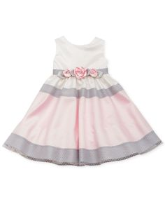 Rare Editions Little Girls' Colorblocked Lace Dress