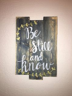 MEDIUM: 3 plank wood sign: Hand made and hand painted. Perfect for the home/office. This sign measures 10x17 and can be customized to fit your style. This is a worn blue stain with white words and metallic gold decor. Want another phrase? Just contact me and I will make it for you :) Check out my other listings for more signs and creations. Dont forget to make my shop a favorite to see new items currently in the making!  Each piece of wood is hand selected and may have perfect imperfecti...