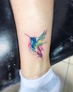 "6,498 Likes, 25 Comments - Adrian Bascur (@adrianbascur) on Instagram: ""Clb AB #tattoo #tatuaje #colors #picaflor #colibri #aquarelle #watercolor #acuarela #bird…"""