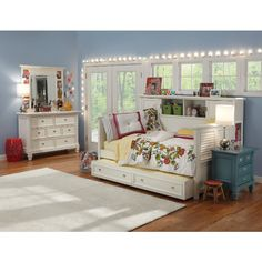 Shop For A Cottage Colors White 5 Pc Full Bookcase Wall