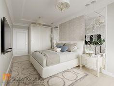 Фото: Интерьер спальни - Интерьер квартиры в классическом стиле в ЖК «Времена года», 61 кв.м.