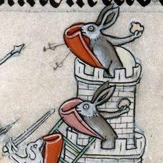 Siege of Bunny Castle, summer volume of the Breviary of Renaud, Metz ca. 1302-1305 (Verdun, BM, ms. 107, fol. 137v)