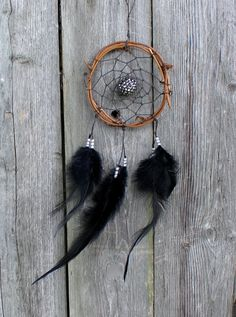 Car Dreamcatcher Small Dream Catcher Black and by VagaBoundPeople