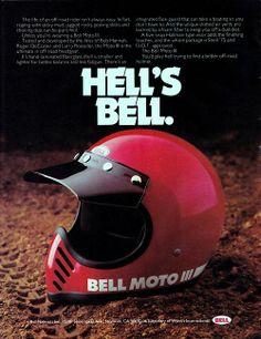 80s-90s-stuff: Hell's Bell - 80s Motocross ad