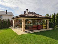 Bungalows, Backyard Pavilion, Patio Design, Barbecue, Gazebo, House Plans, Outdoor Structures, Cabin, Building