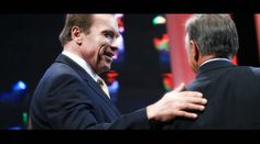 """Arnold Schwarzenegger and Rafael  Santonja, president of the IFBB in """"The Iron Will, the strongest documentary ever made"""" a feature documentary about bodybuilding directed by David De Bartolome."""