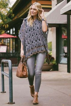 Flowing lines make the art deco–inspired Urban Poncho a statement piece. The heavy tassels at each corner add weight to the hem and style to this poncho. The Spring in the City feature from Interweave Crochet Spring 2017 has tons of light, stylish looks for urban outings.
