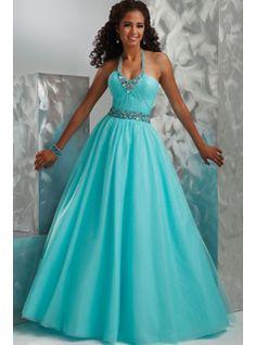 Tiffany blue, long prom dress