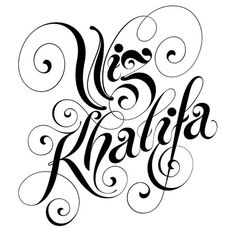 """Wiz Khalifa"" Typography by Alex Trochut"