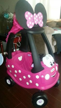Minnie mouse toy car , by lissa