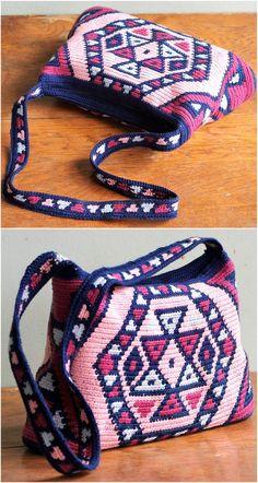 crocheted bag design ideas 1