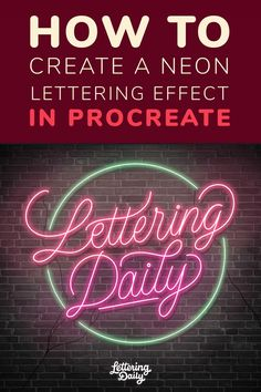In this tutorial, I will teach you how to create a neon lettering effect using the Procreate app. This is an easy tutorial suited even for beginners. If you like iPad lettering, you will enjoy this tutorial as well. Lettering Tutorial, Lettering Ideas, Lettering Art, Lettering Styles, Different Lettering, Neon Words, Digital Art Tutorial, Ipad Art, Neon Signs
