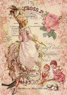 Mademoiselle Couture Greeting Card by Sarah Vernon