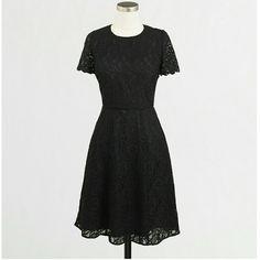 J.Crew factory floral lace dress size 4 Black J. Crew Dresses