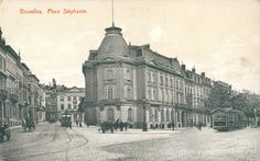 Place Stéphanie.. c1900 Old Photographs, Photos, Archi Design, Antwerp, Belle Epoque, Vintage Postcards, Hui, Belgium, Photo Art