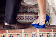 wedding shoes photo idea,s blue wedding shoes, bride and groom feet photo, kristin renee photographer, santa barbara courthouse weddings http://santabarbaracourthouseweddings.net