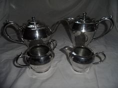 Art deco silver plated tea set  4 piece  cooper by empireantiques, £90.00
