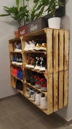 Des chaussures; Espace de rangement; Stockage de chaussures; Meuble à chaussures; Décoration d'intérieur; Meubles; Bricolage; petit ... - #à #bricolage #chaussures #d39intérieur #de #décoration #des #espace #meuble #meubles #petit #rangement #stockage