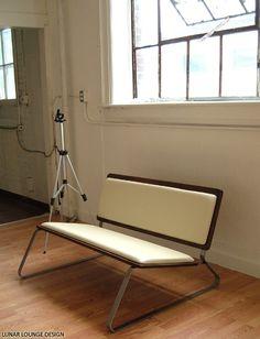 lunar lounge design | ply back love seat