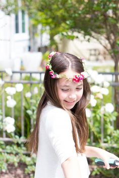 Try something new - DIY flower crowns from MichaelsMakers A Thoughtful Place