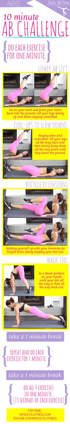 New 10 Minute Ab Challenge :) Click for the FULL length video with all of the details!