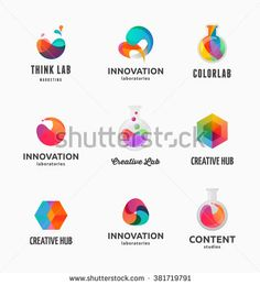 Technology, laboratory, creativity innovation and science abstract icons…