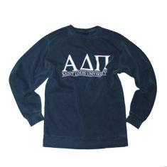Alpha Delta Pi - SLU Deep Navy Comfort Colors Sweatshirt