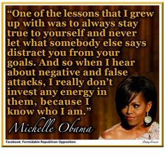 Michelle Obama words of wisdom Michelle Obama Quotes, Barack And Michelle, Great Quotes, Quotes To Live By, Life Quotes, Awesome Quotes, Woman Quotes, Positive Quotes, Motivational Quotes