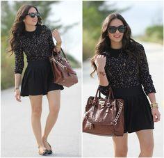 Mimi Boutique Bag, Forever 21 Skirt, Le Bunny Bleu Flats, Swatch Watch, Romwe Top, Furor Sunglasses