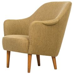 Carl Malmsten Samsas Easy Chair by O.H SjöGren in Sweden ca.1960's | From a unique collection of antique and modern lounge chairs at https://www.1stdibs.com/furniture/seating/lounge-chairs/