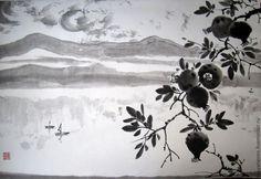 Купить Боко-Которская бухта. Гранаты - чёрно-белый, пейзаж, черногория, природа, вода, горы