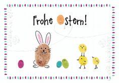 Easter Crafts For Toddlers, Toddler Crafts, Diy For Kids, Diy Easter Cards, Baby Footprint Art, Fingerprint Art, Easter Hunt, Bunny Crafts, Spring Crafts