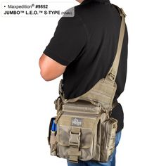 Jumbo LEO S-Type Tactical Nylon Shoulder Sling Active Shooter Bag for Law Enforcement Police Officer - MAXPEDITION HARD-USE GEAR Tactical Nylon Gear for Military, Law Enforcement, Tactical Concealed Carry; Tailored to Perform Tactical