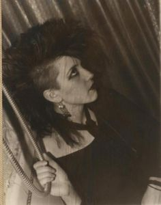 O.G. Goth Girl - Nice to see that the side shave has been around for so long. Badass!