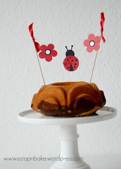 Marienkäfer - Ladybug - Party - Geburtstag - Kuchengirlande - Cake banner