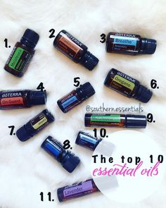 Top 10 oil overview that everyone needs to have in their own homes. 1.Melaleuca - Has cleansing and rejuvinating effect on skin promotes healthy immune function protects against seasonal threats & Zit zapper and fights fungal infections. 2.Frankincense - Helps to build and maintain healthy immune function wrinkles reduces appearance of stretch marks and scars. The king of oils! 3.Breathe - Maintains clear airways and breathing supports overall respiratory health. Apply to nose or chest…