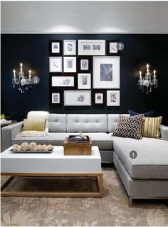 Jane Bi-Sectional in Lato Ash. Decorated by Candice Olson Design