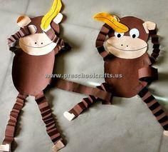 animal crafts Accordion Animals Crafts for Kids - Preschool and Kindergarten accordion monkeys craft ideas for preschool Zoo Crafts Preschool, Jungle Crafts, Animal Crafts For Kids, Kindergarten Crafts, Toddler Crafts, Diy Crafts For Kids, Projects For Kids, Fun Crafts, Craft Ideas