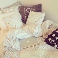 Lots of pillows, blankets, and throw on blankets is a must need for you!!