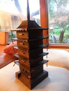 Vintage Pagoda Jewelry Box