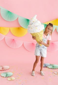 Soft Serve Ice Cream Cone Pinata   Oh Happy Day!