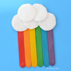 This craft sticks rainbow craft is a great craft kids can make for St. Patrick's Day, spring, summer or letter R.