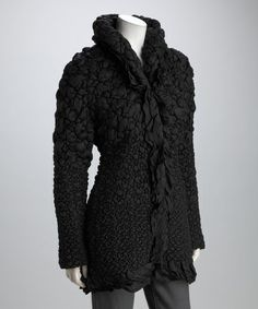 Take a look at this Black Ruffle Jacket by Kial on #zulily today!