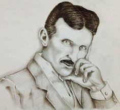 Tesla ritratto a matita