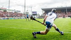 Waterford's Austin Gleeson attempts to send a side-line puck over the bar against Dublin in the All-Ireland quarter-final Funny Man, Sports Stars, Man Humor, Dublin, Summer Fun, Athletes, Yup, Ireland, Irish