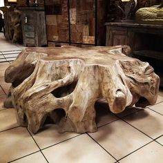 table basse racine de teck 90cm http meuble id es ameublement. Black Bedroom Furniture Sets. Home Design Ideas