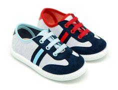 Tienda online de calzado infantil Okaaspain. Zapatillas de lona combianda con cordones. Calidad al mejor precio hecho en España.